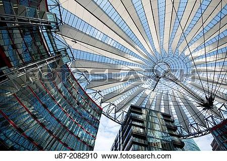 Stock Photography of Germany, Berlin, Potsdamer Platz, Sony Center.