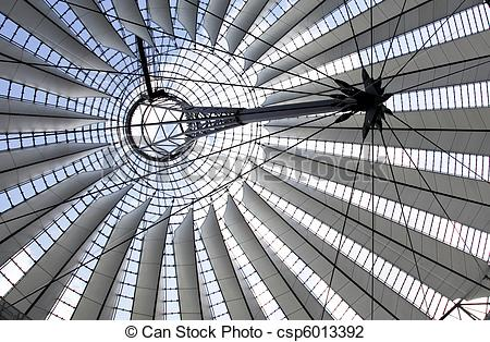 Stock Photo of Sony center dome in Berlin csp6013392.