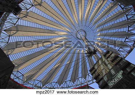 Picture of The Sony center in Potsdamer Platz, Berlin, Germany.