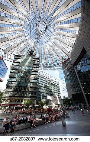 Picture of Germany, Berlin, Potsdamer Platz, Sony Center. u87.