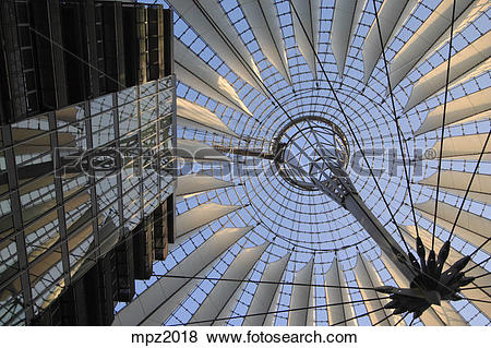 Pictures of The Sony center in Potsdamer Platz, Berlin, Germany.