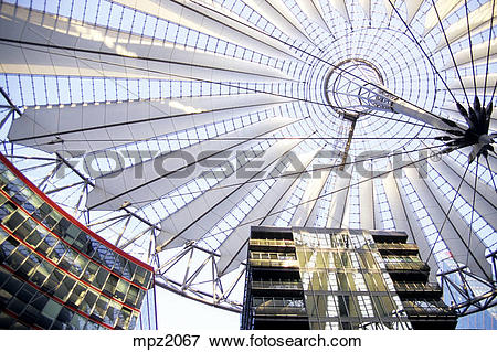 Picture of The Sony center in Potsdamer Platz, Berlin mpz2067.