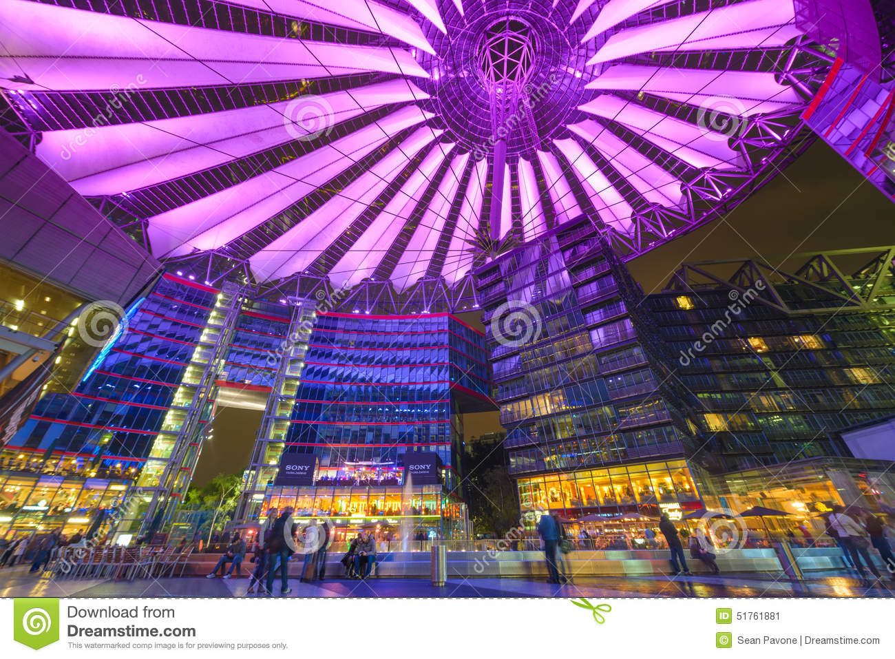Sony Center Of Berlin Editorial Photo.