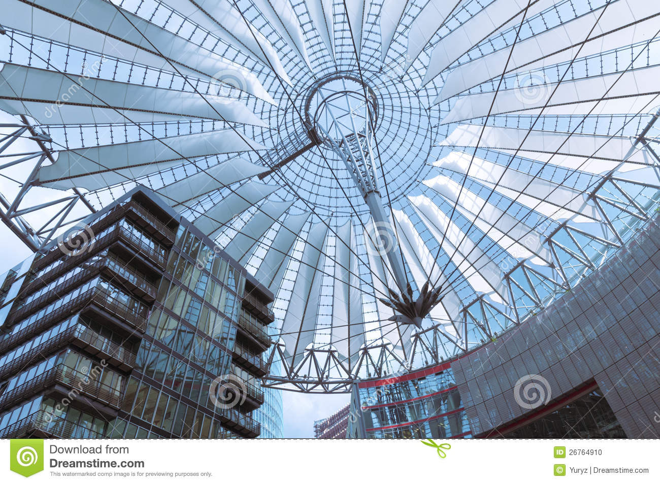 Berlin Sony Center Roof Editorial Image.
