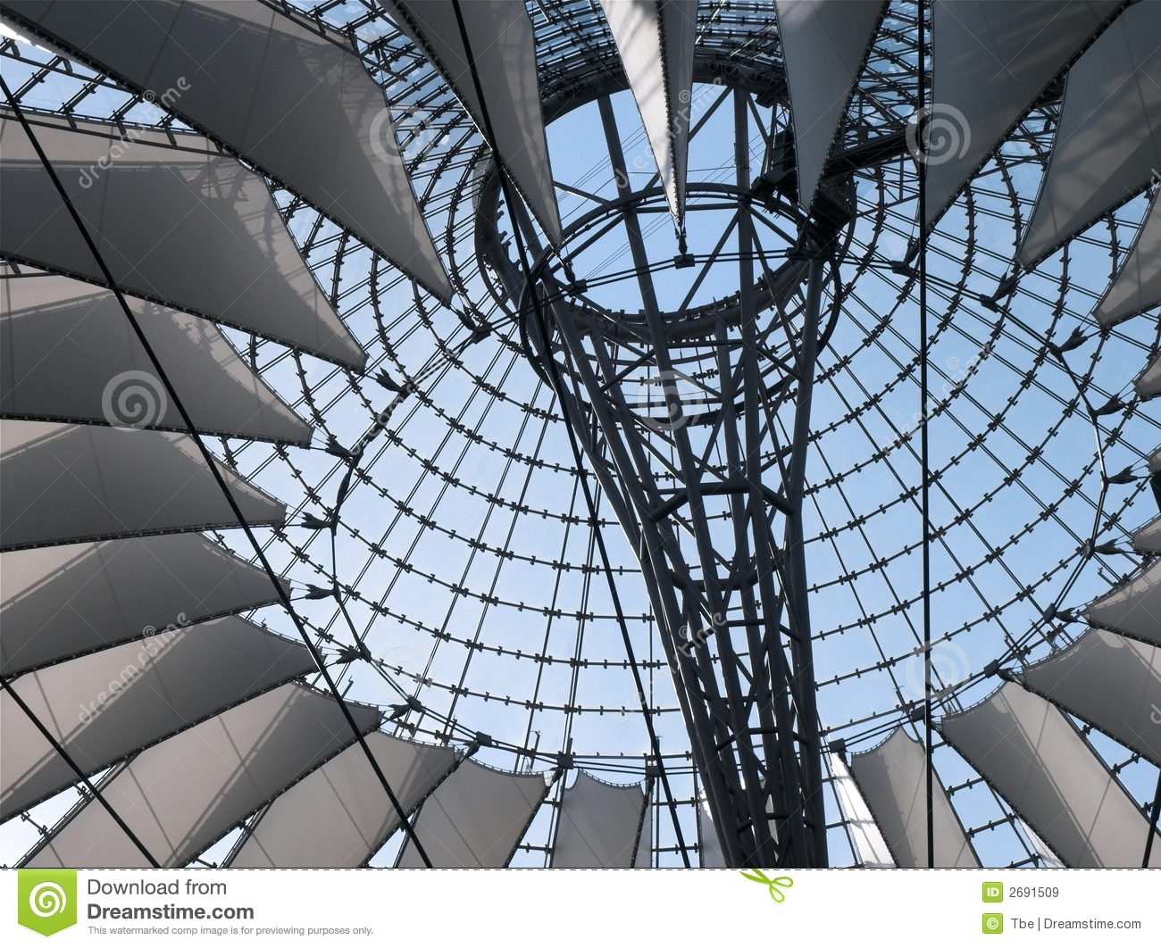 Berlin Sony Center Royalty Free Stock Images.