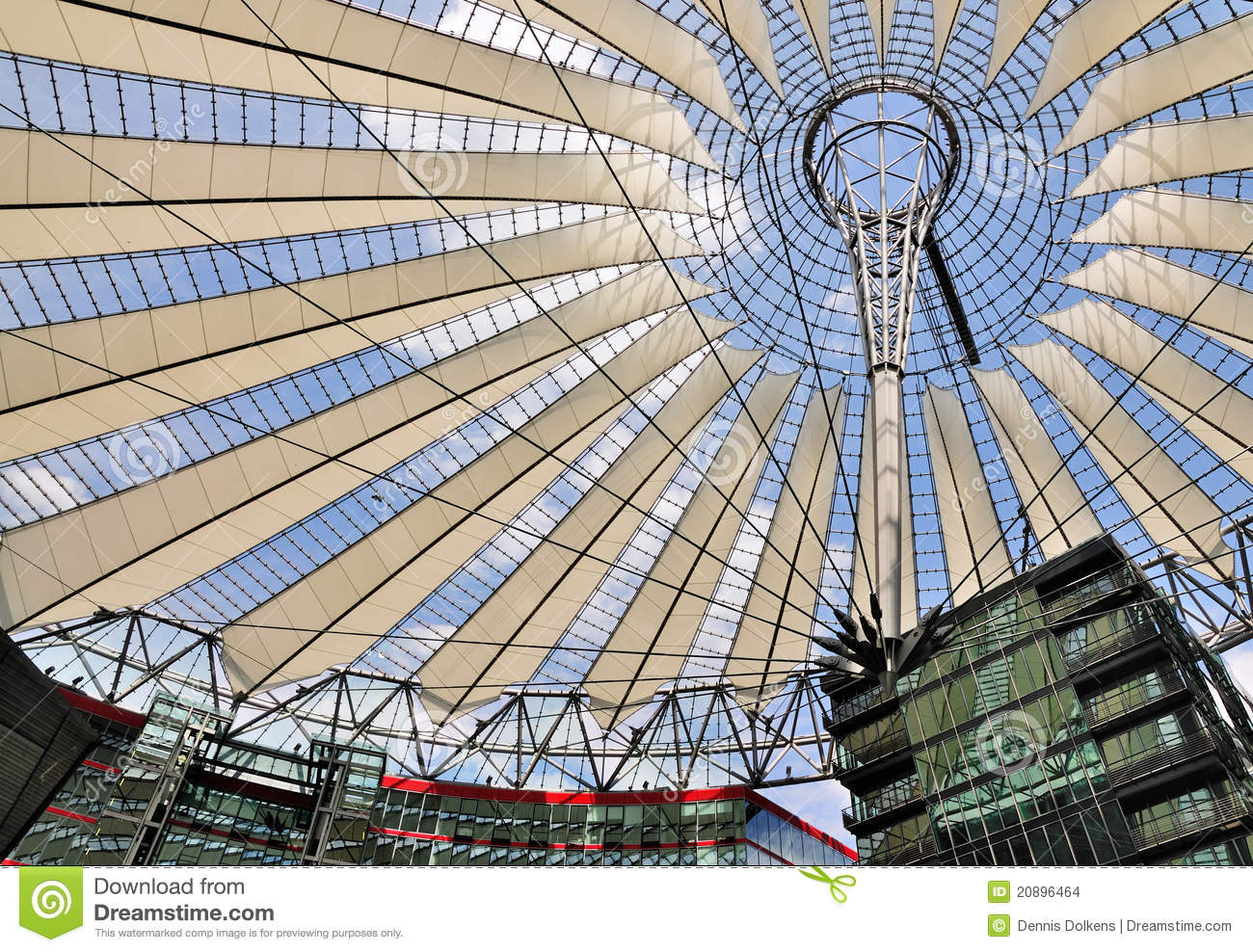 Sony Center, Berlin Editorial Stock Image.