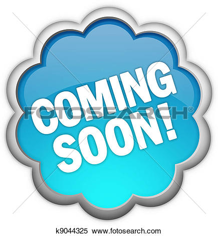 Clip Art of Coming soon stamps k8937322.