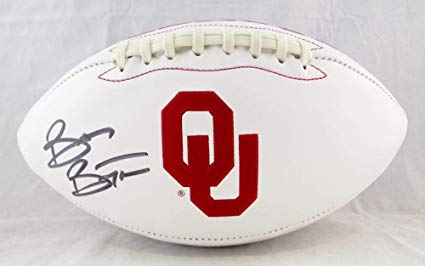 Brian Bosworth Autographed OU Sooners Logo Football.