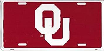 Amazon.com: Decor Time Oklahoma Sooners Logo Metal License.