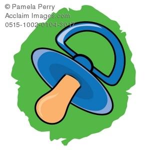 Clip Art Illustration of Cartoon Pacifier.