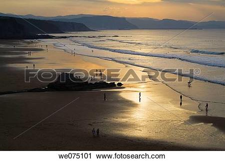 Stock Photography of Beach in Sopelana. Biscay. Euskadi. Spain.