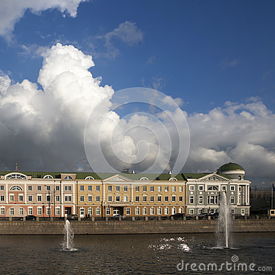Sofia Embankment And Moscow River Stock Images.