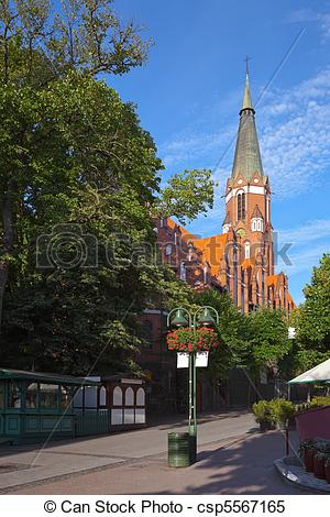 Stock Images of Church in Sopot.