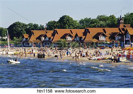 Pictures of Sopot Beach, Sopot, Baltic Sea, Poland htn1158.