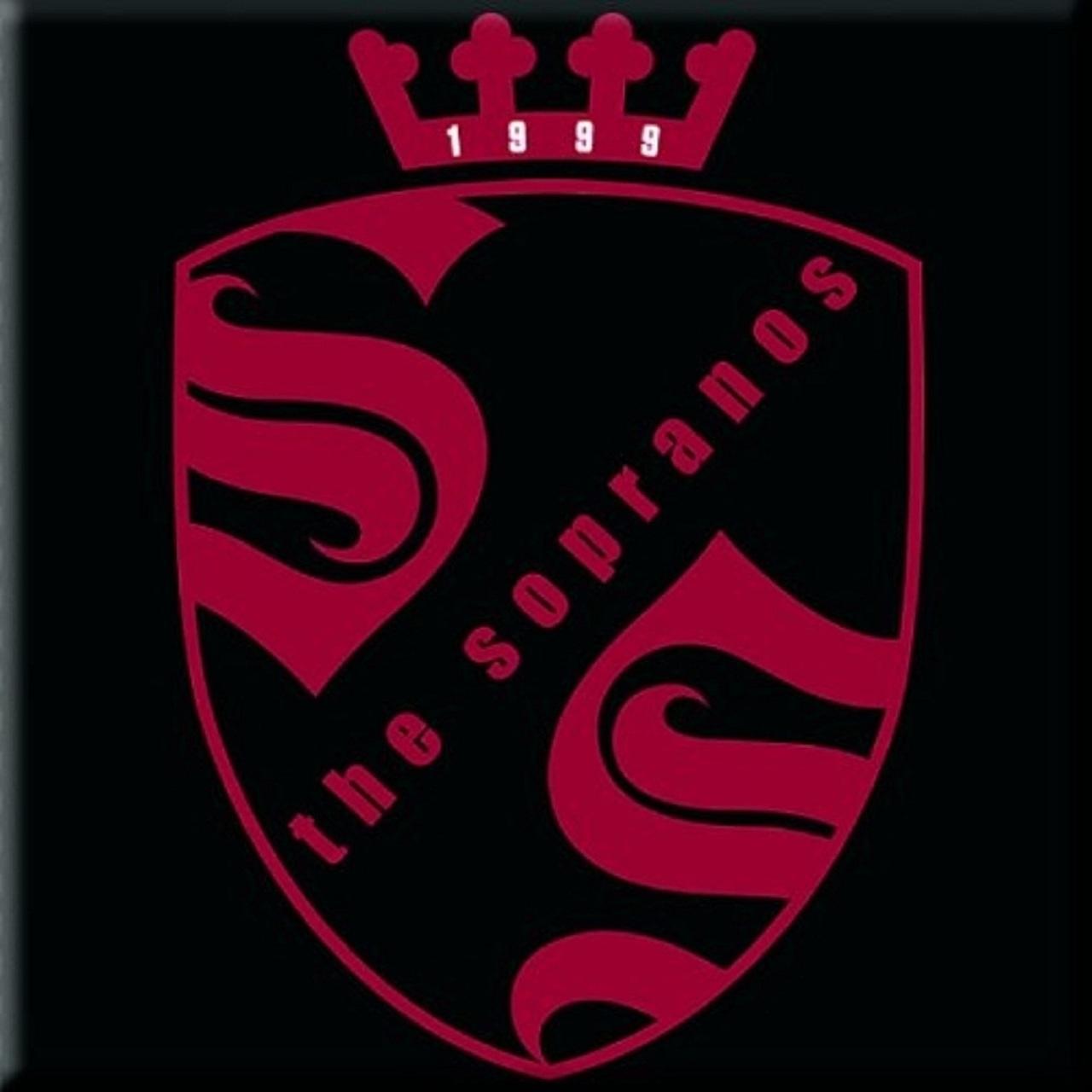 The Sopranos Crest Logo 76mm x 76mm Fridge Magnet.