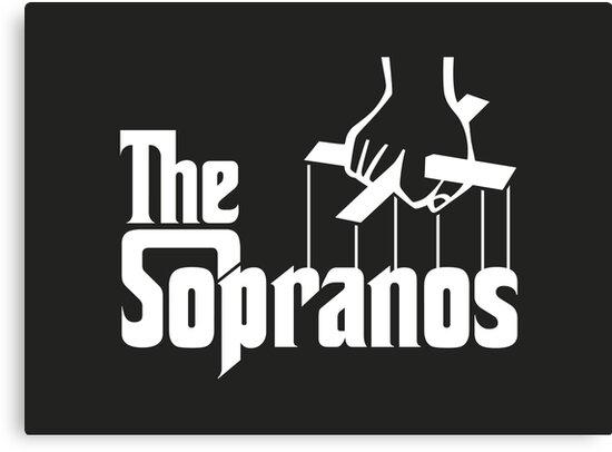 'The Sopranos Logo (The Godfather mashup) (White)' Canvas Print by Aguvagu.