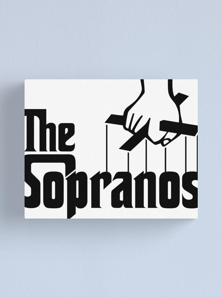 The Sopranos Logo (The Godfather mashup) (Black).