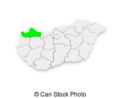 Map of gyor moson sopron hungary Illustrations and Clipart. 7 Map.