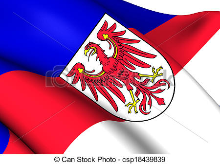 Drawings of Flag for Lower Sorbian Language.