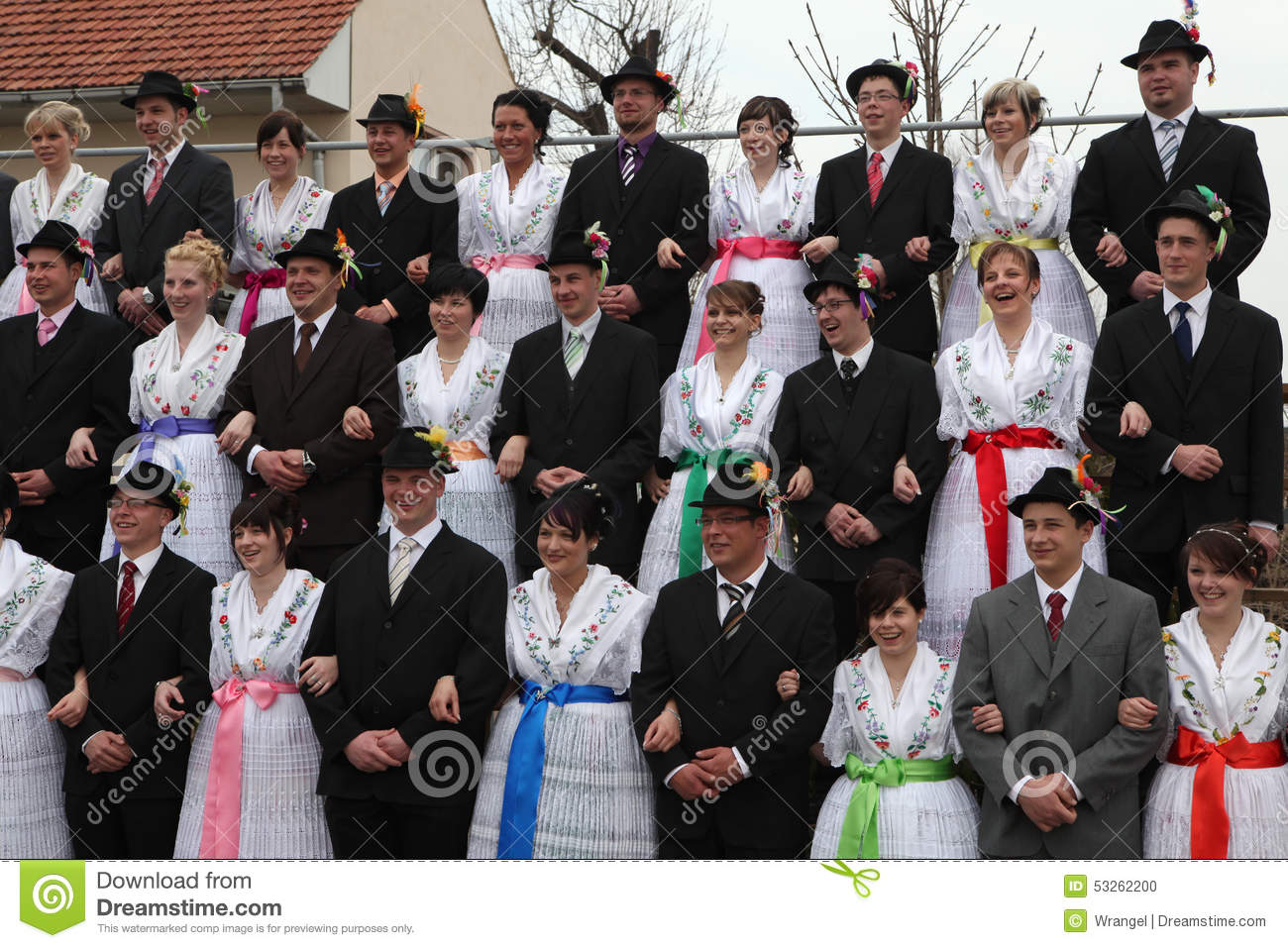 Sorbian Carnival In Lower Lusatia, Germany. Editorial Image.