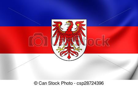 Stock Illustration of Flag of Lower Sorbian Language.