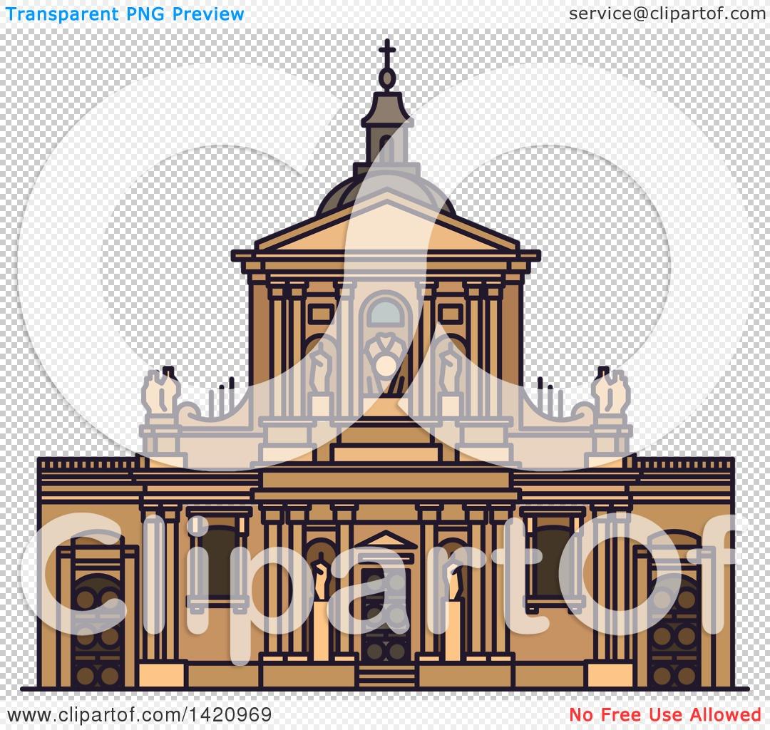 Clipart of a French Landmark, Chapel of Sainte Ursule of Sorbonne.