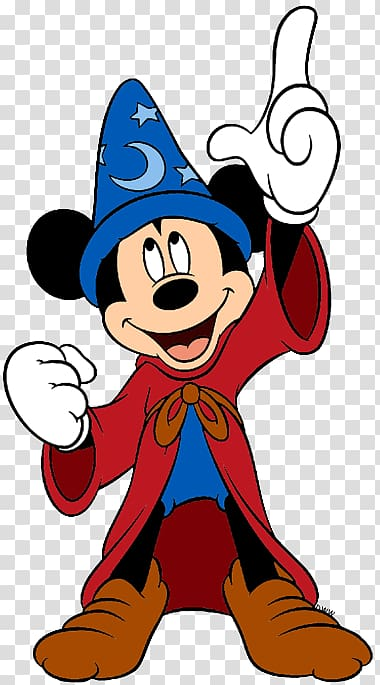Mickey Mouse wearing witch costume illustration, Mickey.