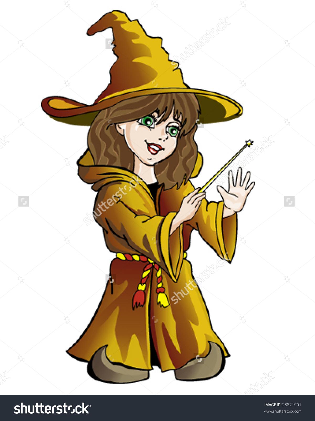 Sorceress Girl Stock Vector Illustration 28821901 : Shutterstock.
