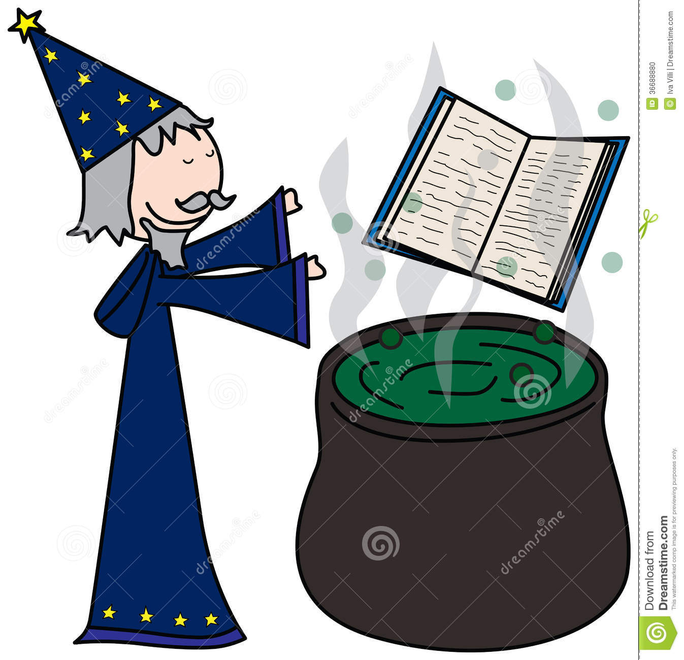 Sorcerer Stock Photo.