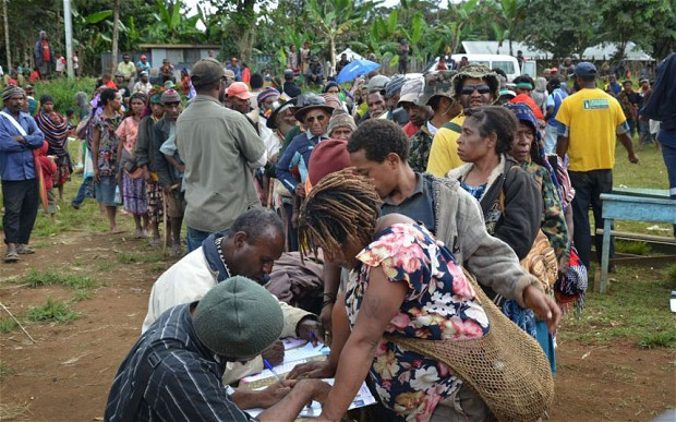 Cannibal killers delay Papua New Guinea poll.