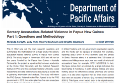 Sorcery Accusation Related Violence in Papua New Guinea.