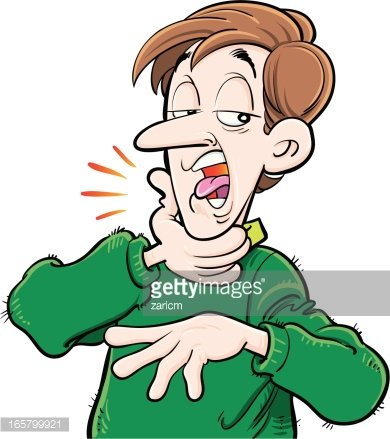 Sore Throat Clipart Image.