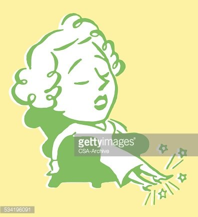 Woman in Chair with Sore Feet Clipart Image.