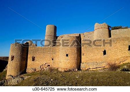 Stock Image of Castle, Caracena. Soria province, Castilla.