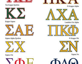 Top 10 Fraternity and Sorority Logos.