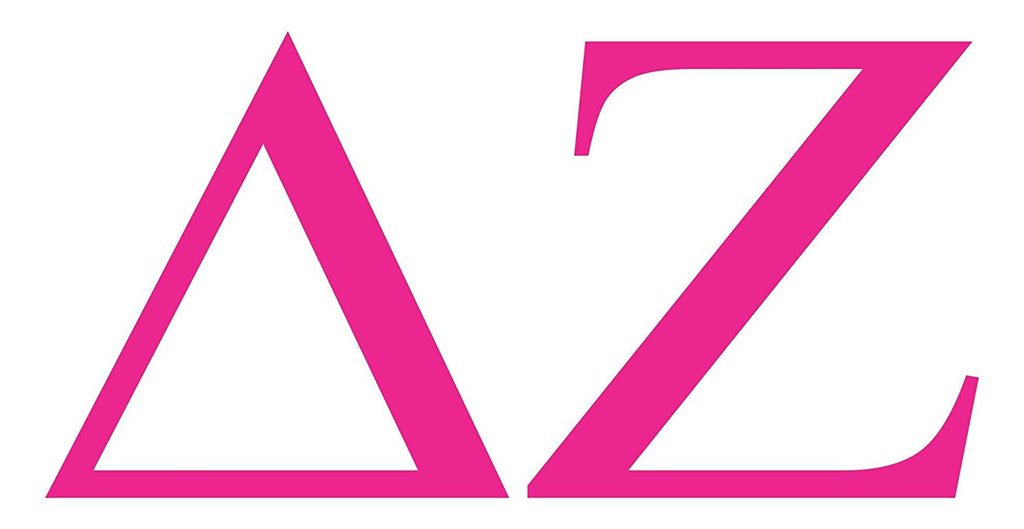 Delta Zeta College Sorority Logo Vinyl Sticker Decal Car Truck Windon Wall  Laptop notebook.