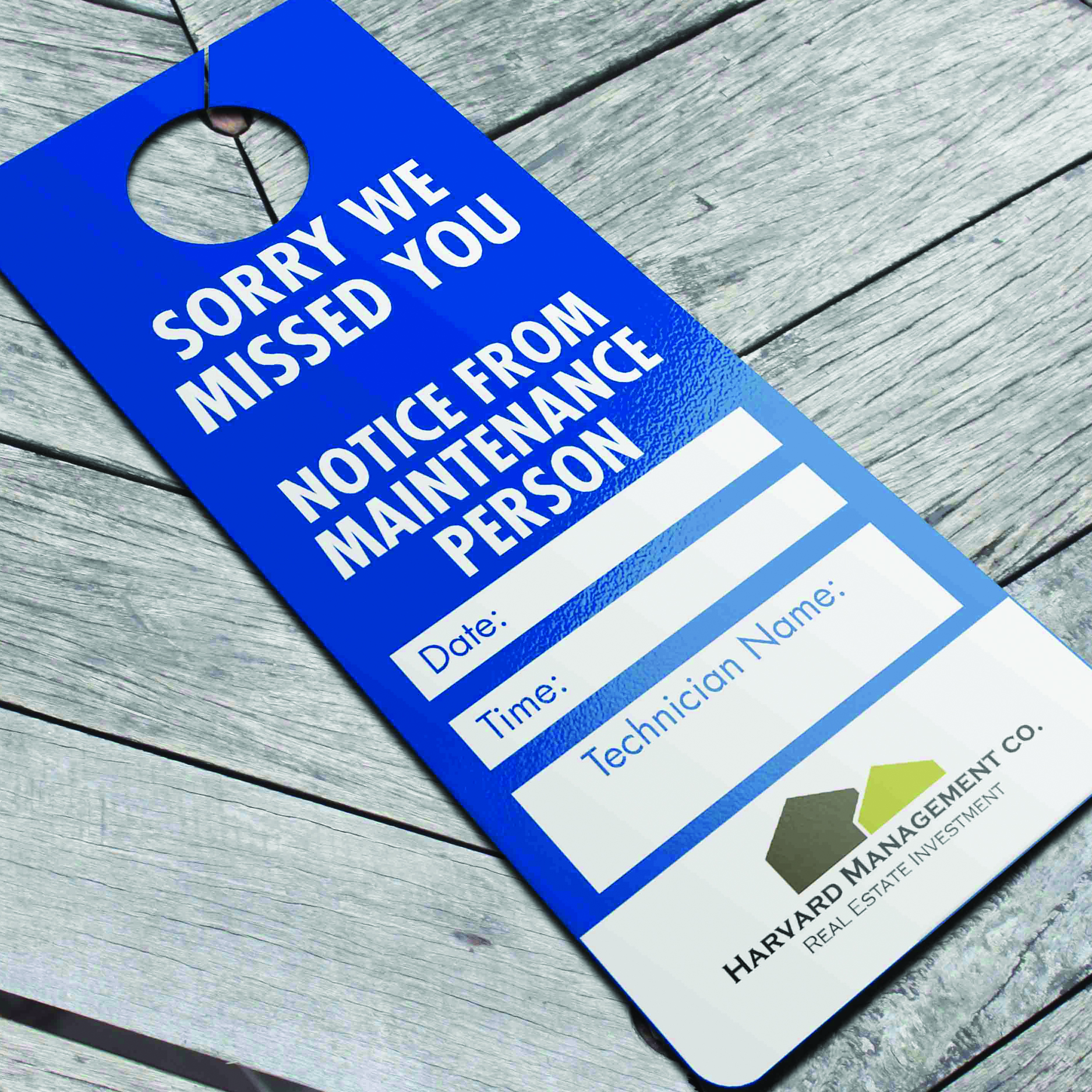 free sorry we missed you door hanger template.