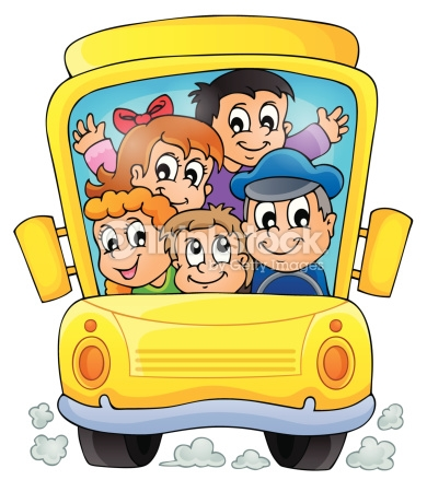 Image With School Bus Theme 1 Vector Art.