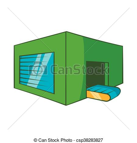 Vector Illustration of Beer sorting plant icon, cartoon style.