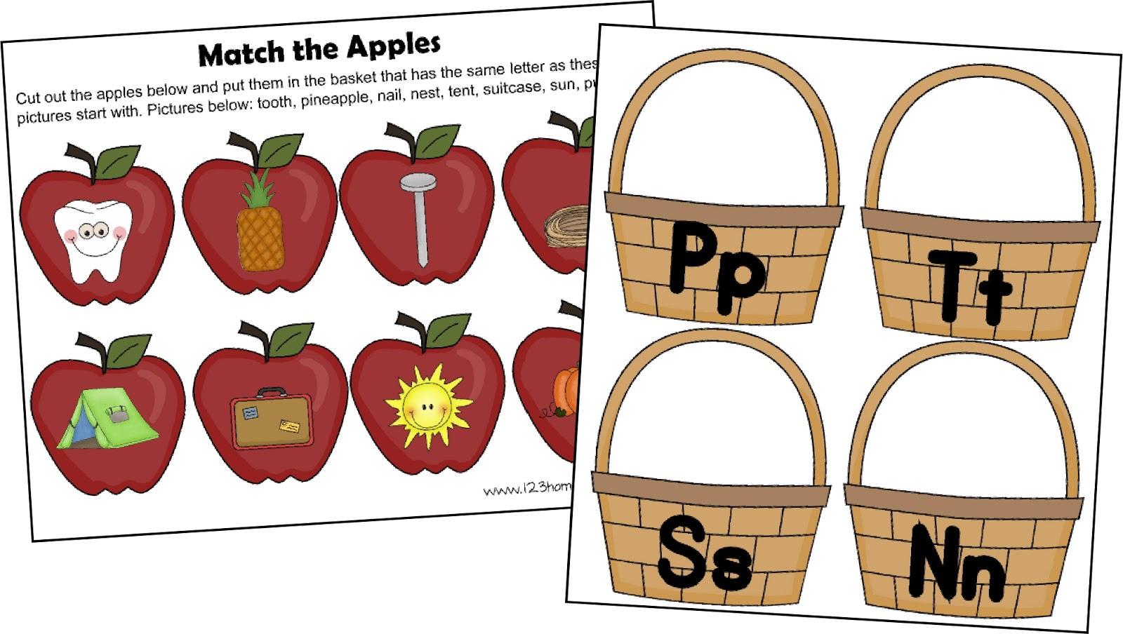 FREE! Letter A Apple Sort.