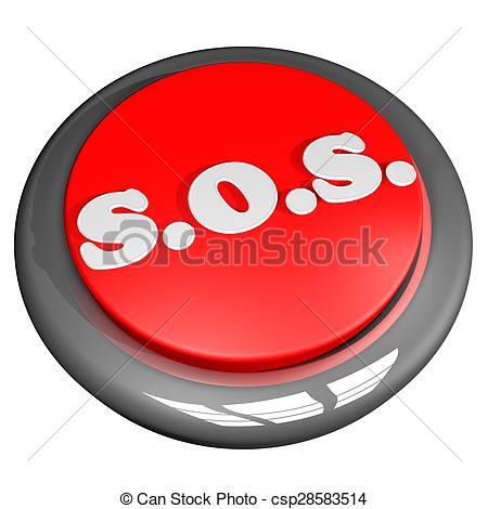 Clipart of SOS Button.
