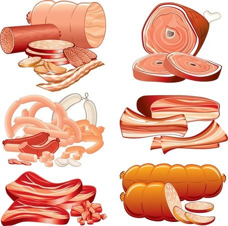 Vector Sausage Meat Clipart Picture Free Download.