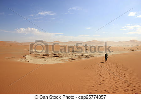 Stock Images of Tourist in the Sossusvlei desert, Namibia.