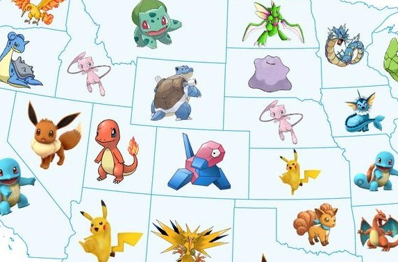 What is the most sought after Pokémon in each state?.