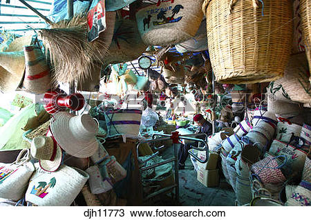 Stock Photo of Africa, Tunisia, Gabès, Souk Jara, Central Market.