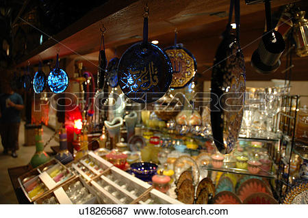 Picture of madinat, jumeirah, dubai, souk, market, night, evening.