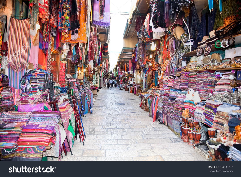 Jerusalem April 27 Souq Old City Stock Photo 104633297.