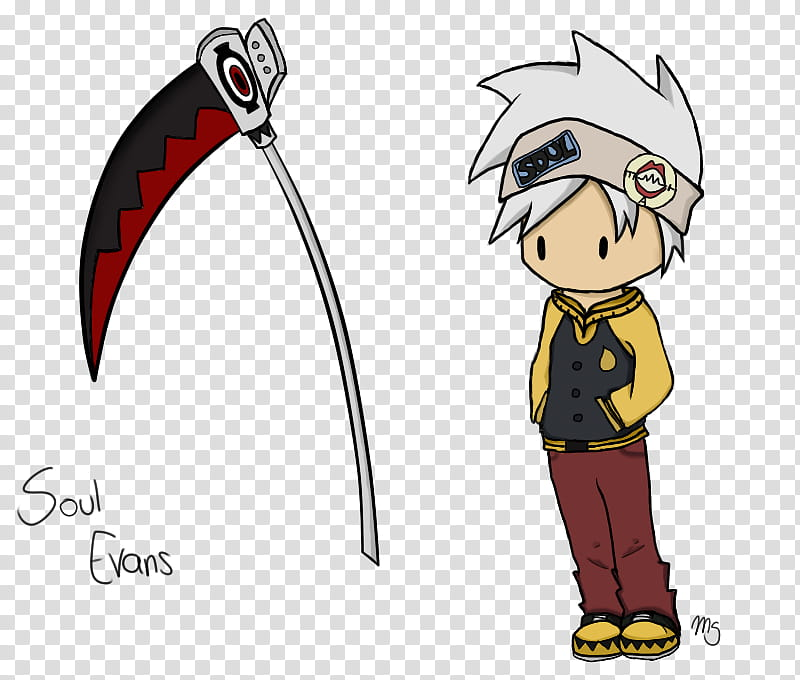Chibi Soul Evans, Soul Eater transparent background PNG.