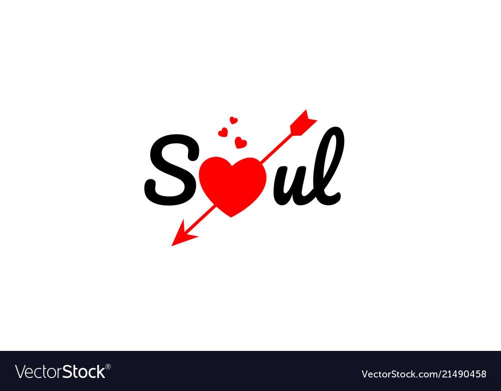 Soul word text typography design logo icon.