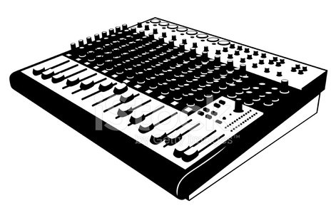 Audio mixing board Clipart Image.